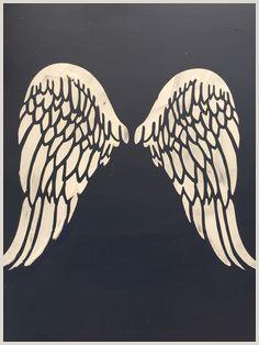 Barleycorn vintage stencils Raised stencil angel wings