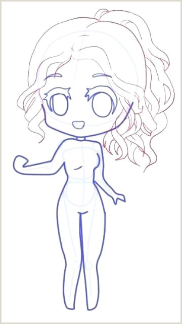 Anime Female Body Sketch