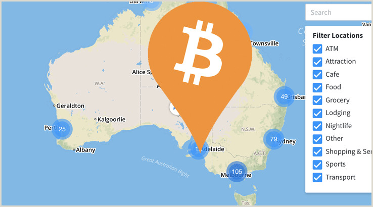 MAP Bitcoin ATMs & Shops That Accept BTC Australia