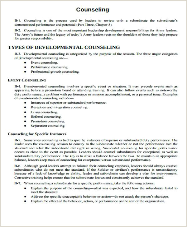 Army Quarterly Counseling Form Monthly Template Writer