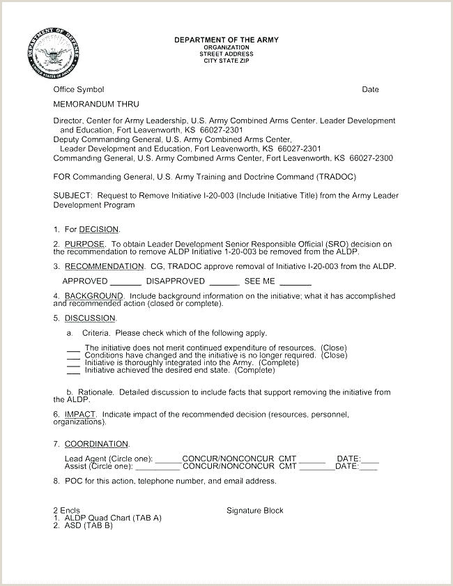 Example Army For Record Template Additional Duties Memo