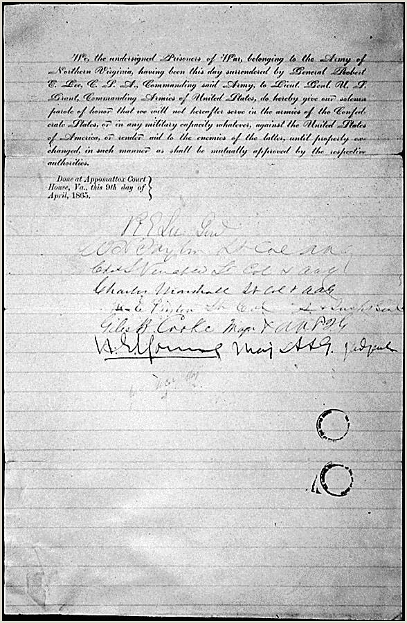 General Robert E Lee s Parole and Citizenship