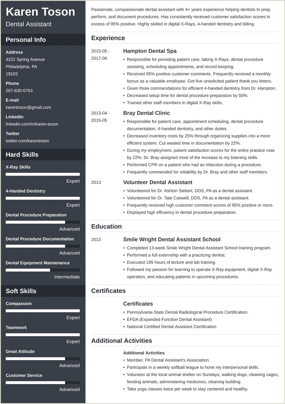Assistant Job Description 88 Dental assistant Resume Template Dental assistant