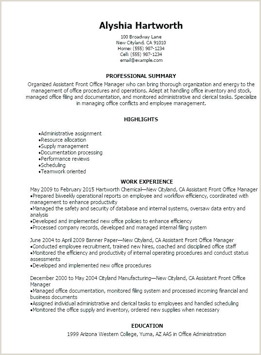Asst Front Office Manager Job Description Office Manager Resume Example – Thrifdecorblog