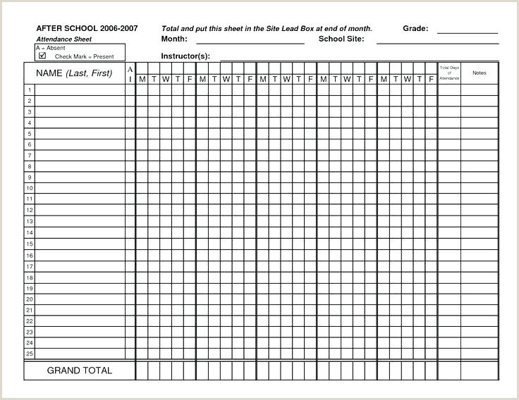 Attendance Sheet for Teachers Monthly attendance Sheet Template – Nyani