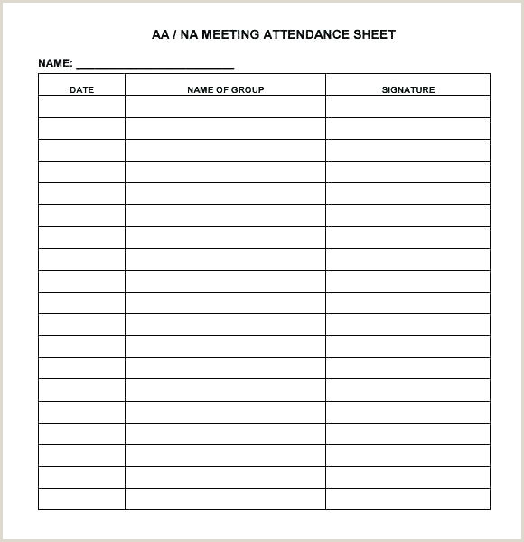 Printable Attendance Sheet Monthly Sheets For Teachers