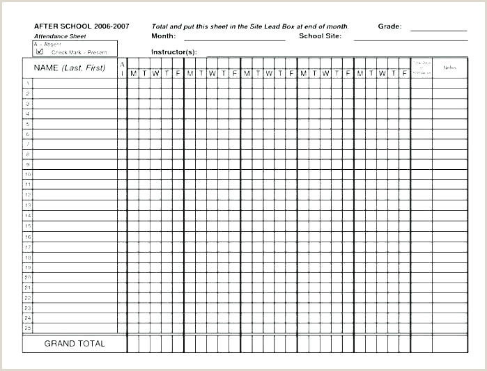 Attendance Sheet for Teachers School attendance Sheet Template – Naomijorge
