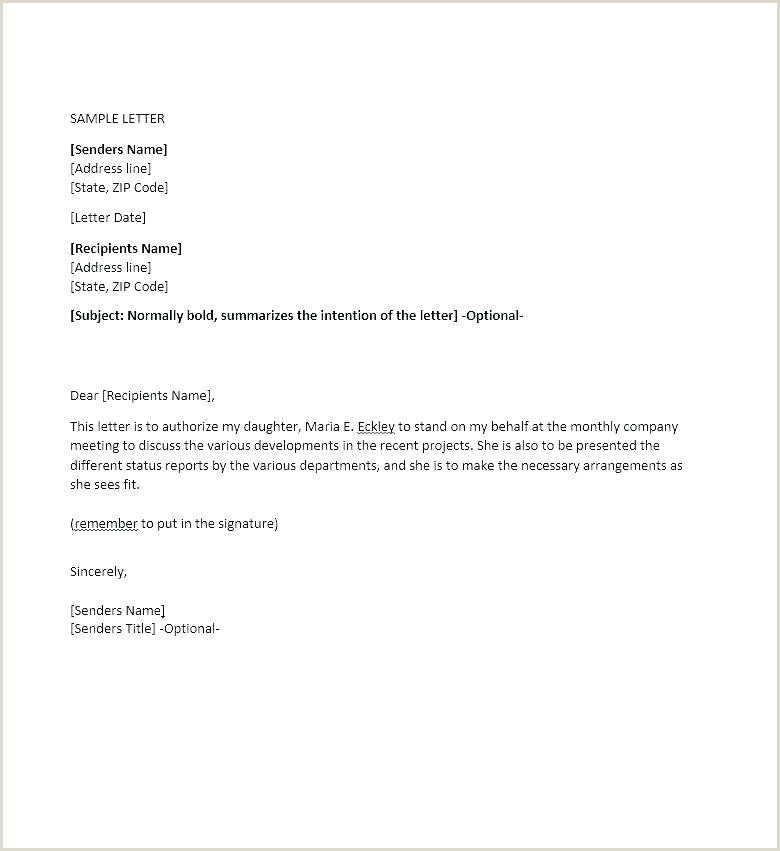 Authorization Letter Sample to Act On Behalf Authorization Letter for Business Representation – Innovanza