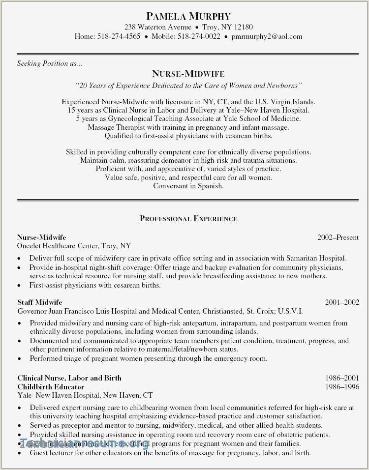 Unique Medical Lab Technician Resume