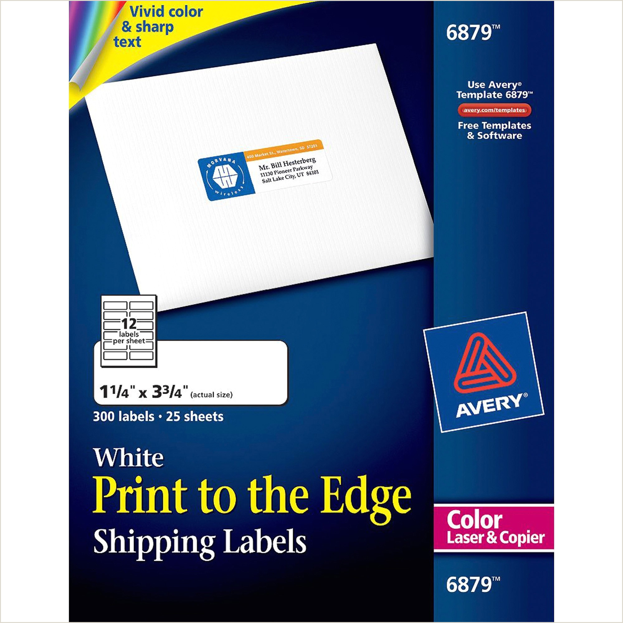 Avery Laser Labels Matte Mailing 3 3 4 x 1 1 4 300 per