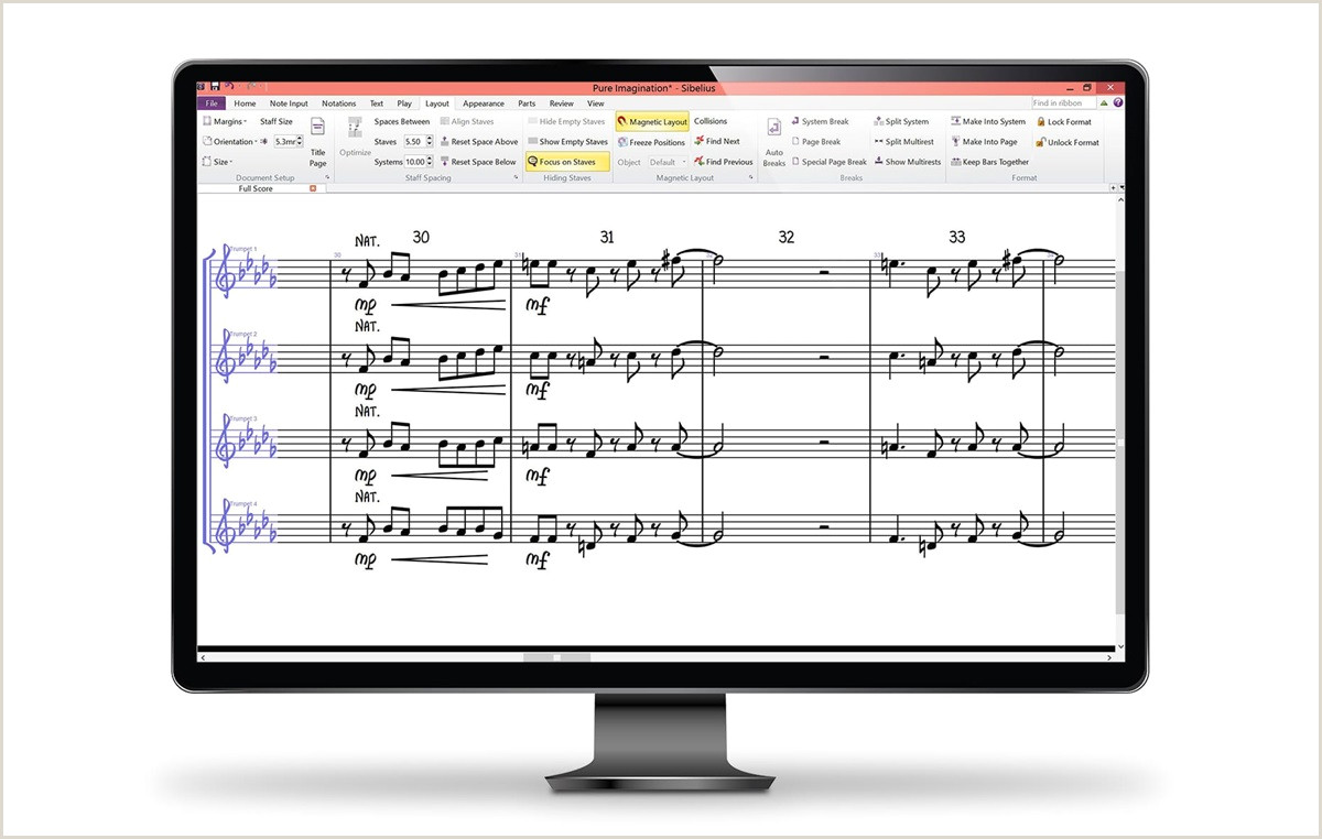 Avid Note Taking Template Music Notation software Sibelius