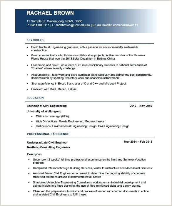 B Tech Fresher Resume Format Doc Download Civil Engineering Resume Formats – Emelcotest