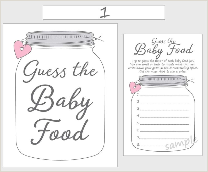 Baby Food Jar Label Template Guess the Baby Food Printable Baby Shower Game Pink Girl Mason Jar