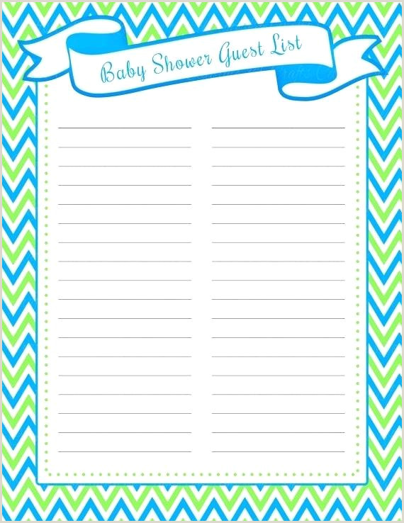 Baby Shower Guest Book Printable Baby Shower Guest Book Template – Digitalhustle