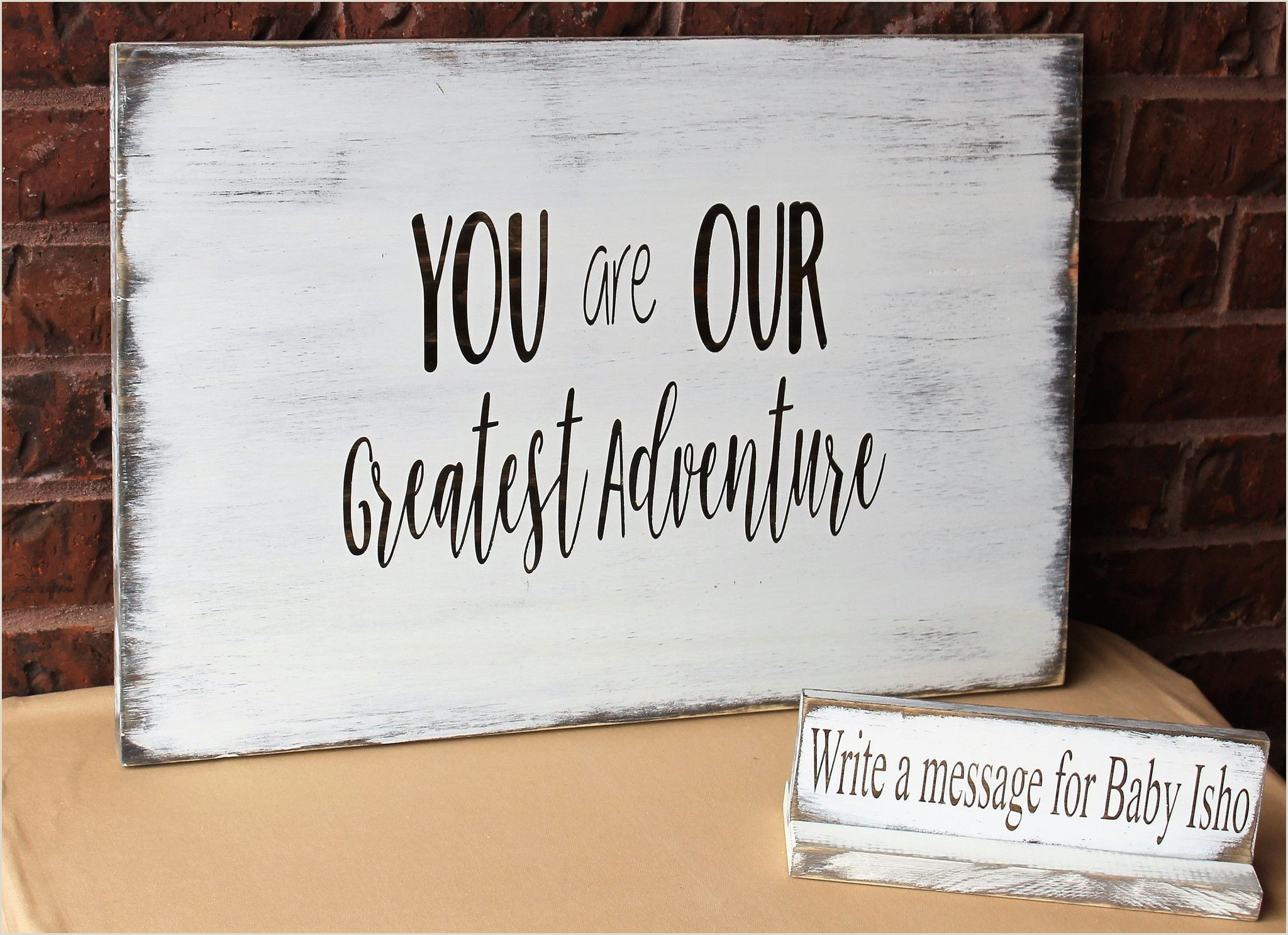Baby Shower Guest Sign In Baby Shower Guestbook Alternative Made Of Wood In 2019