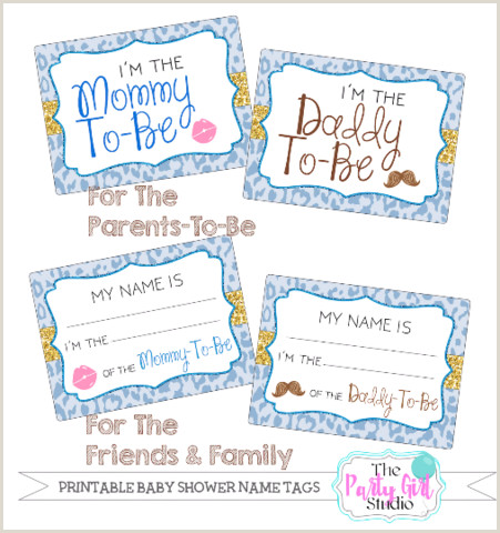 Baby Shower Name Tags Printable Name Tag Package Baby Shower Its A Boy