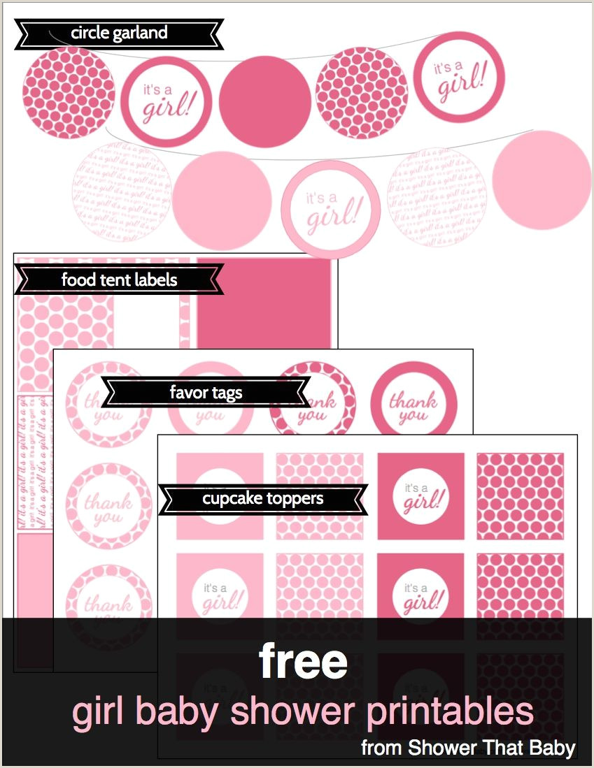 Baby Shower Tags Free Girl Baby Shower theme Printables