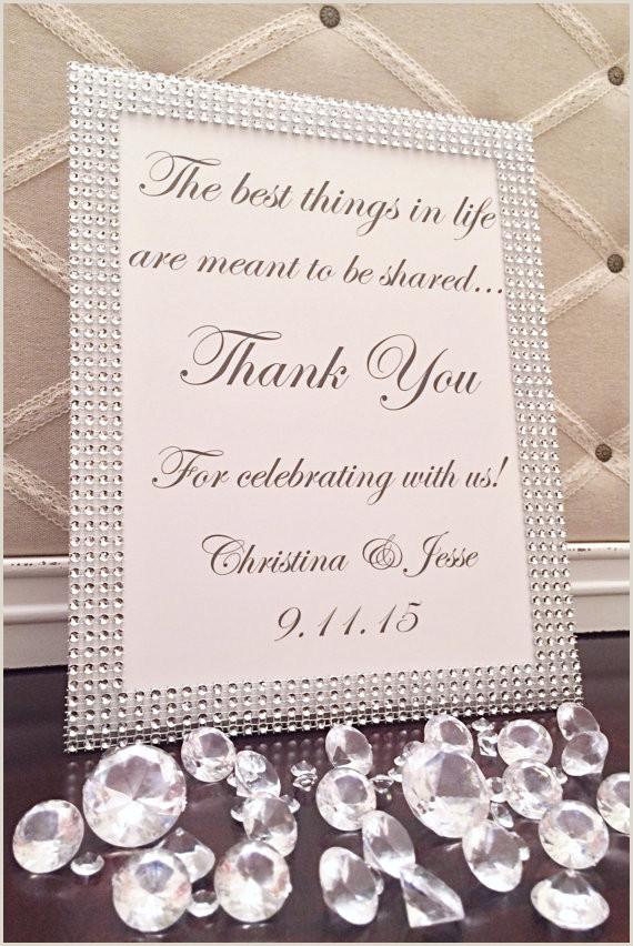 Bling Wedding Thank You Sign Wedding Gratitude Sign Bling
