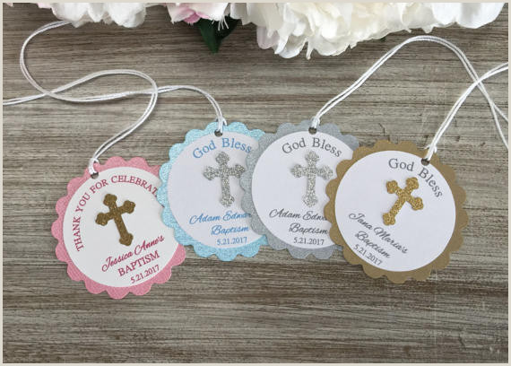 custom First munion Christening favor baby shower Gift Tags wel e favors Labels baptism birthday booking Cards