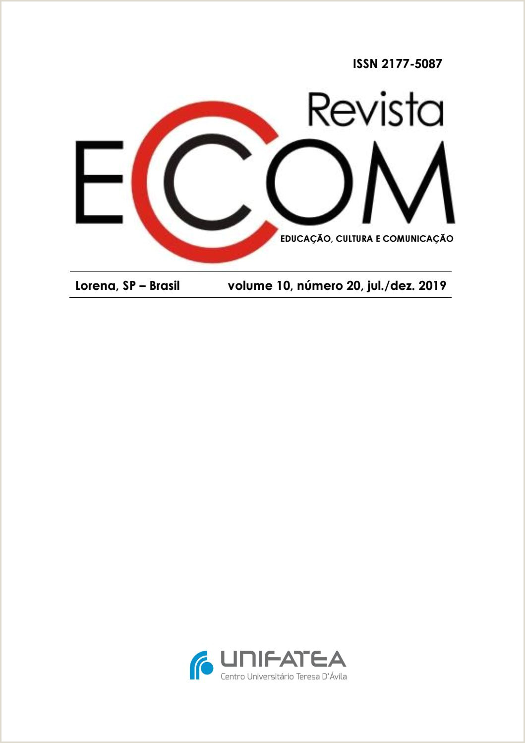 EC 20 – Revista de Educa§£o Cultura e unica§£o by