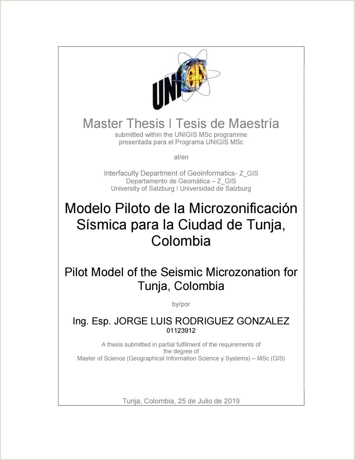 Bajar Hoja De Vida formato Unico Modelo Piloto De La Microzonificaci³n Ssmica Para La Ciudad