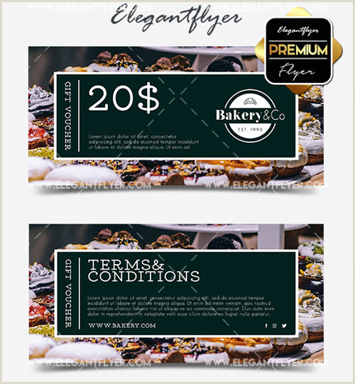 Bakery Flyer Template Free 30 Premium and Free Gift Certificate Psd Templates Ready for