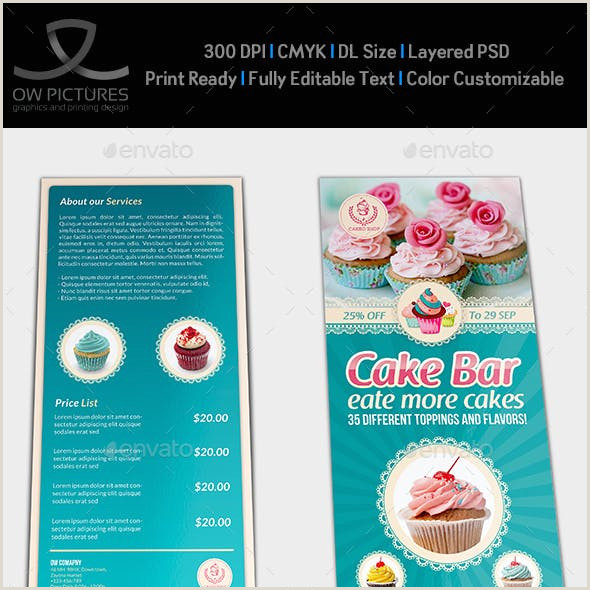 Bakery Flyer Template Free Cake Flyer Graphics Designs & Templates From Graphicriver