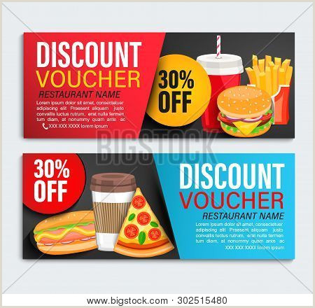 Bakery Flyer Template Free Set Od Discount Gift Vector & Free Trial