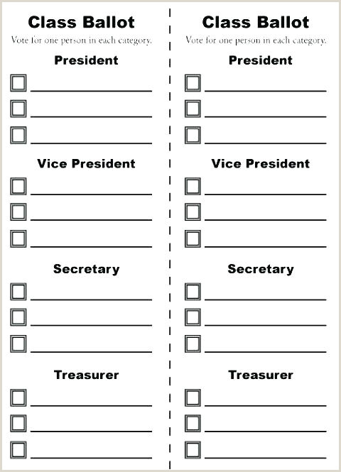 Printable Ballot Template With Voting Word Free Templates