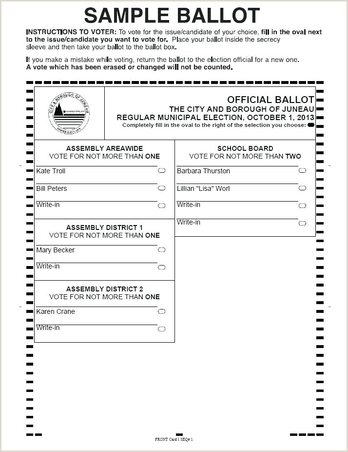 Contest Ballot Template Word Free Printable Ballots For Kids
