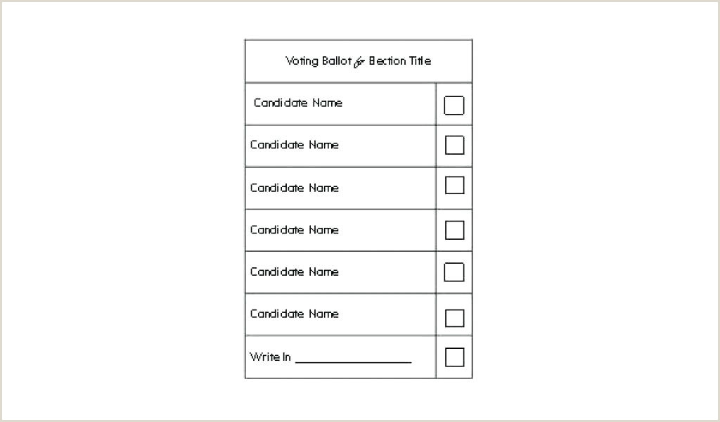 Ballot Template Microsoft Word Voting Sheet Template Excel for Bud Most Used Ballot