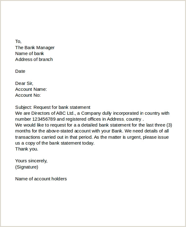 Bank Account Verification Letter Sample 11 Request Letter to Banks Pdf Doc