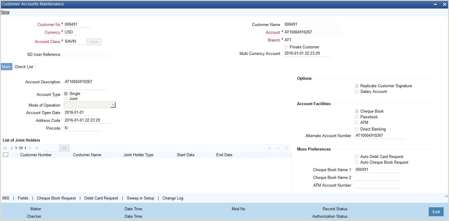 Bank Account Verification Letter Sample 4 Customer Accounts