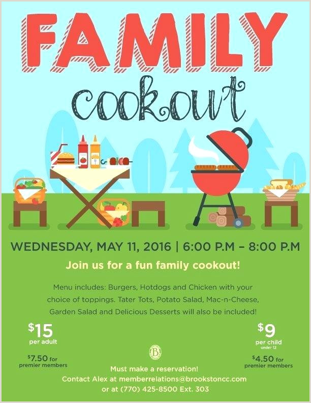 Barbeque Flyer Templates Free Family Flyer Template Cookout Invite Co Blank Picnic In