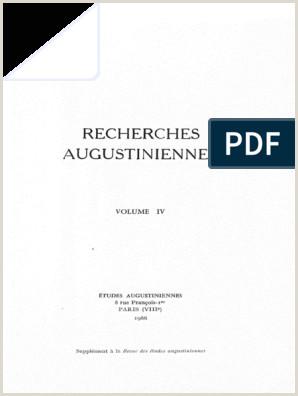Recherches Augustiniennes Volume IV 1966 pdf