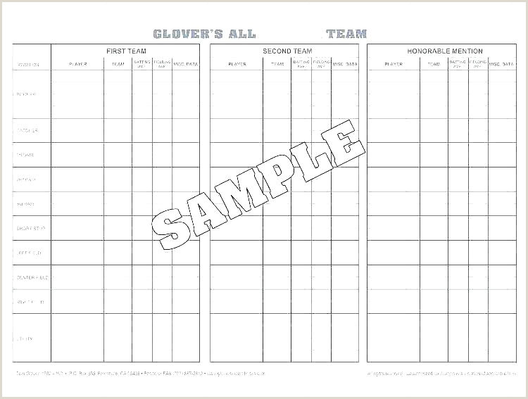 Soccer Roster Template Football Depth Chart Excel Baseball