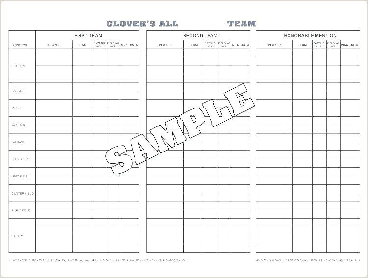 Softball Lineup Cards Template Softball Depth Chart Template