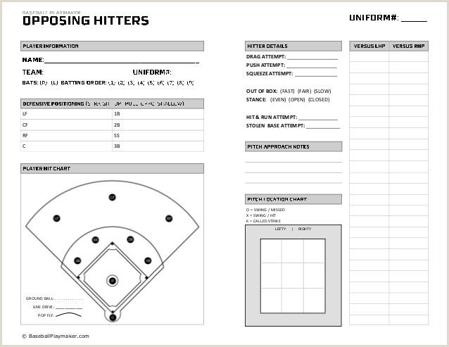 Baseball Hitting Charts Printable Baseball Charts Printable 5