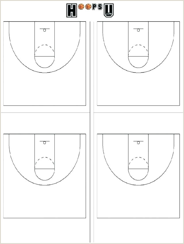 Basketball Court Diagram Plays For Drawing Template Blank