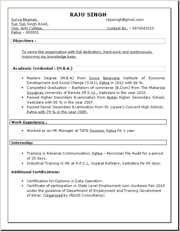 Bba Fresher Resume Format Doc Perfect Resume Format For Experience Latest Software Tester