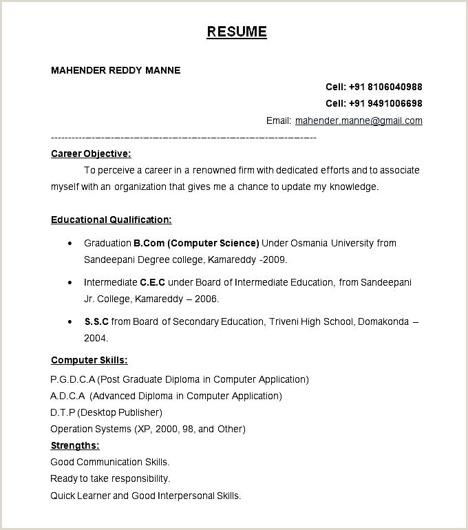 Bca Fresher Resume Format Download In Ms Word Freshers Resume Samples – Growthnotes