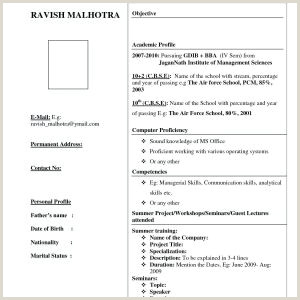 Bca Fresher Resume format Download Pdf by Congress Free Resume format Download for Bca