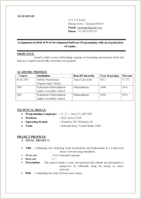 Bca Fresher Resume Format Download Pdf Sample Of Best Resume Format – Wlcolombia