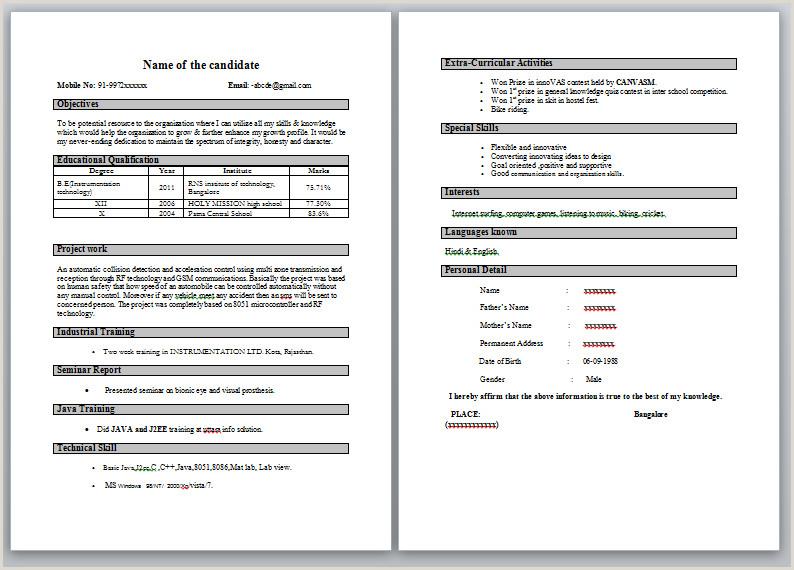 Bca Fresher Resume Format Pdf Write An Essay On My School Line Argumentative Essay