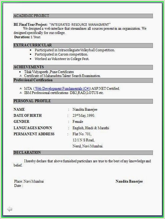 Bcom Fresher Resume Format Download In Ms Word Simple Job Resume Format Pdf Resume Resume Designs