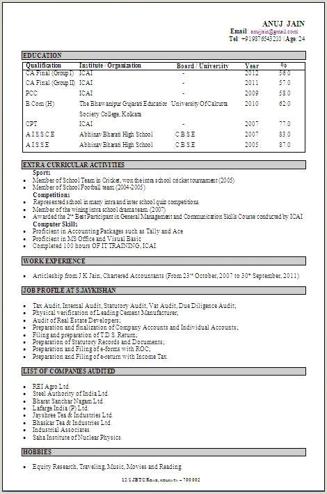Bcom Fresher Resume Sample Doc Download Best Resume Format For B Freshers Sample Resume For