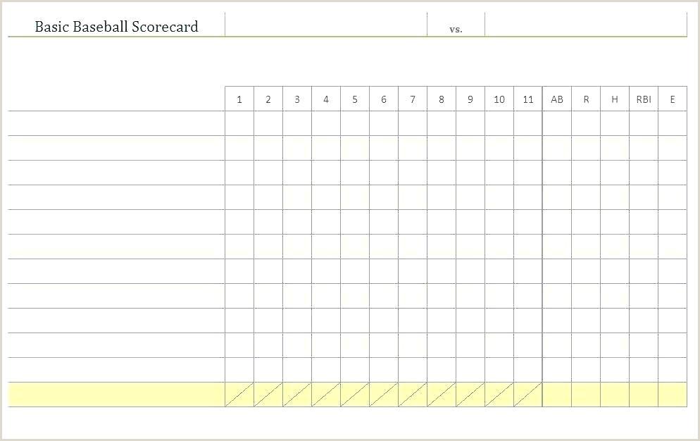 Elegant Printable Baseball Score Sheet Template Little
