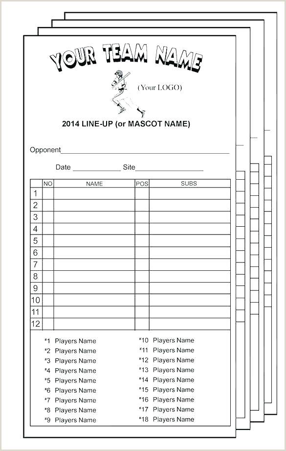 New Baseball Field Template Batting Lineup Card – rennova