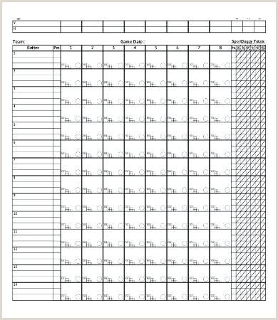 Printable Prettier Baseball Score Sheets Related Post Free