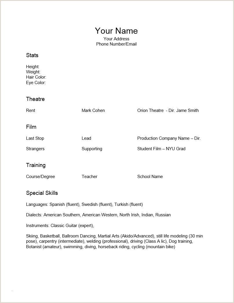 Beginner theater Resume Resume for Kids – Kizi Games